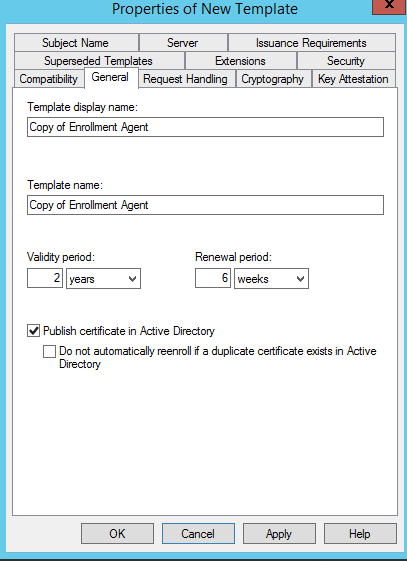 Setting Up Certificate Templates To Enroll On Behalf Of Another User