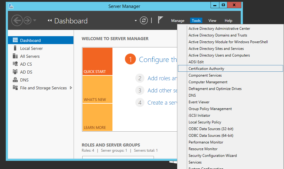 Setting Up A Smart Card Template For Self Enrollment Server 2012 R2