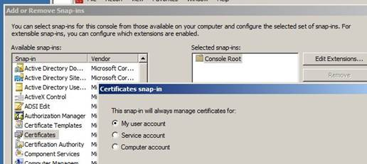 Enrolling a smart card certificate on behalf of another user right click the certificate current user personal certificate store and select enroll on behalf of from all tasks advanced operations yelopaper Choice Image