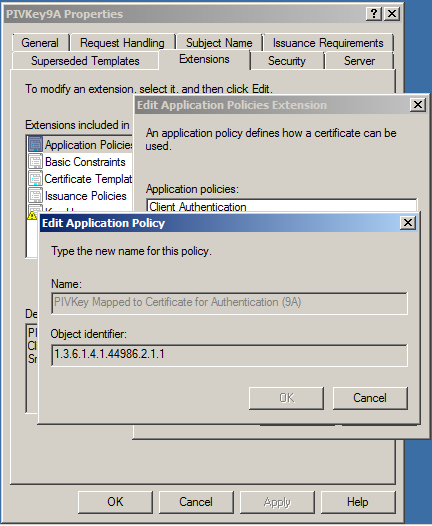 Mapping a piv certificate using an oid taglio pivkey windows server 2012 r2 and windows server 2016 yelopaper Choice Image