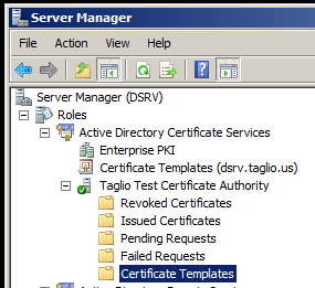 Setting up a certificate template to enroll on behalf of other add the enrollment agent template to the ca certificate template store bring up the active directory certificate authority plug in and right click on yelopaper Image collections